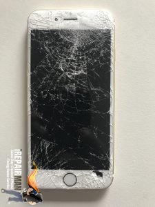 smashed screen repair of iPhone 6s Plus Gold in London