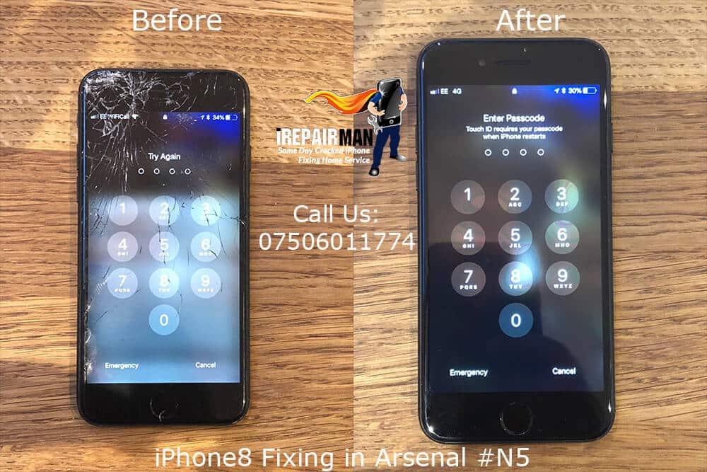iPhone 8 Fixing in Arsenal, iphone 8 screen replacement in Arsenal, Arsenal iphone 8 screen fixing, iphone 8 screen replacement, iRepairMan services in Arsenal