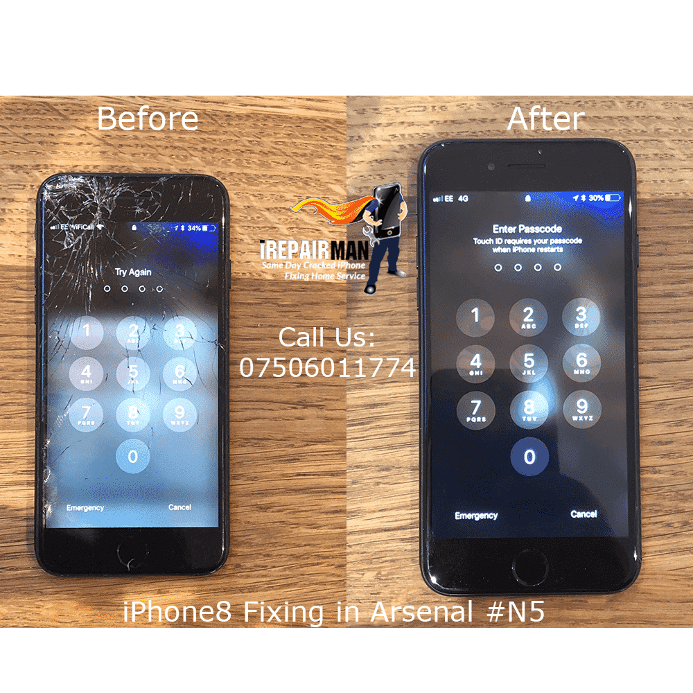 iPhone 8 Fixing in Aresnal