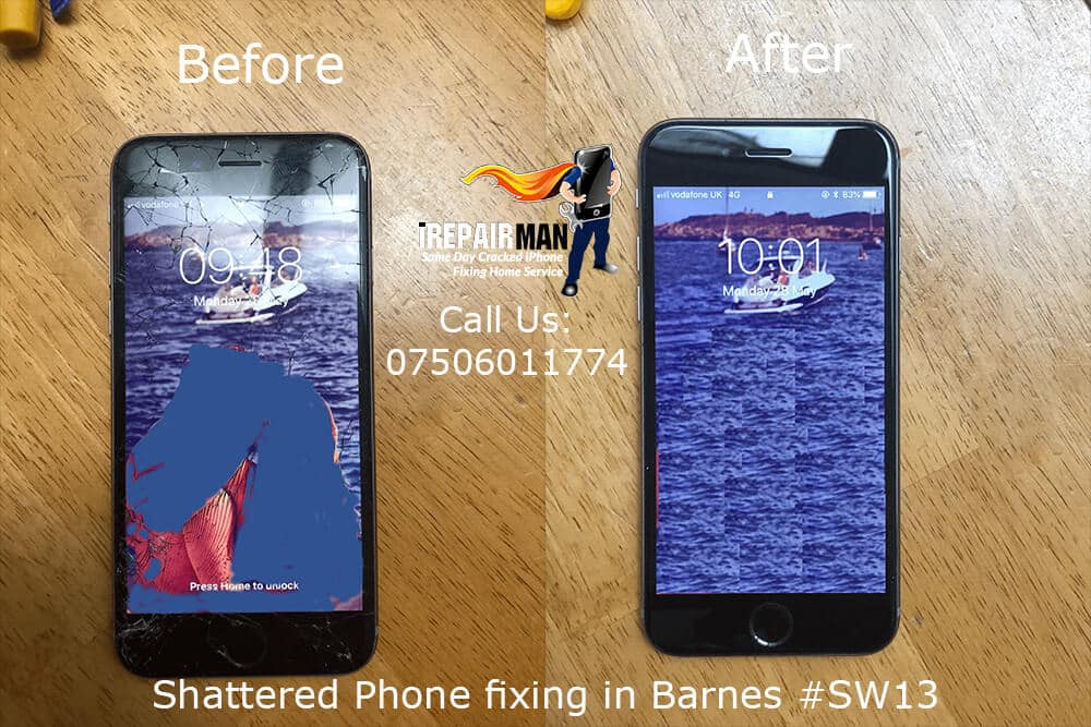 Shattered Phone Fixing in Barnes #SW13