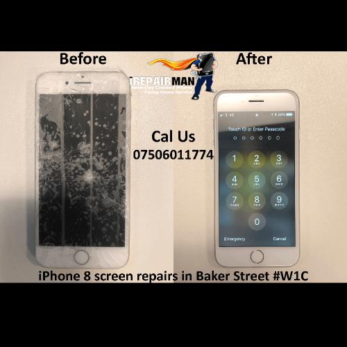 iPhone 8 Screen Repairs in Baker Street