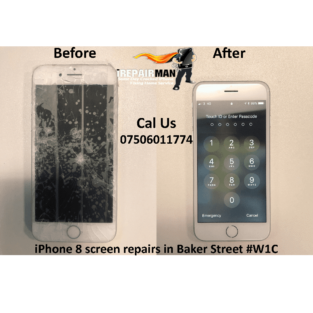 iPhone 8 Screen Repairs in Baker Street