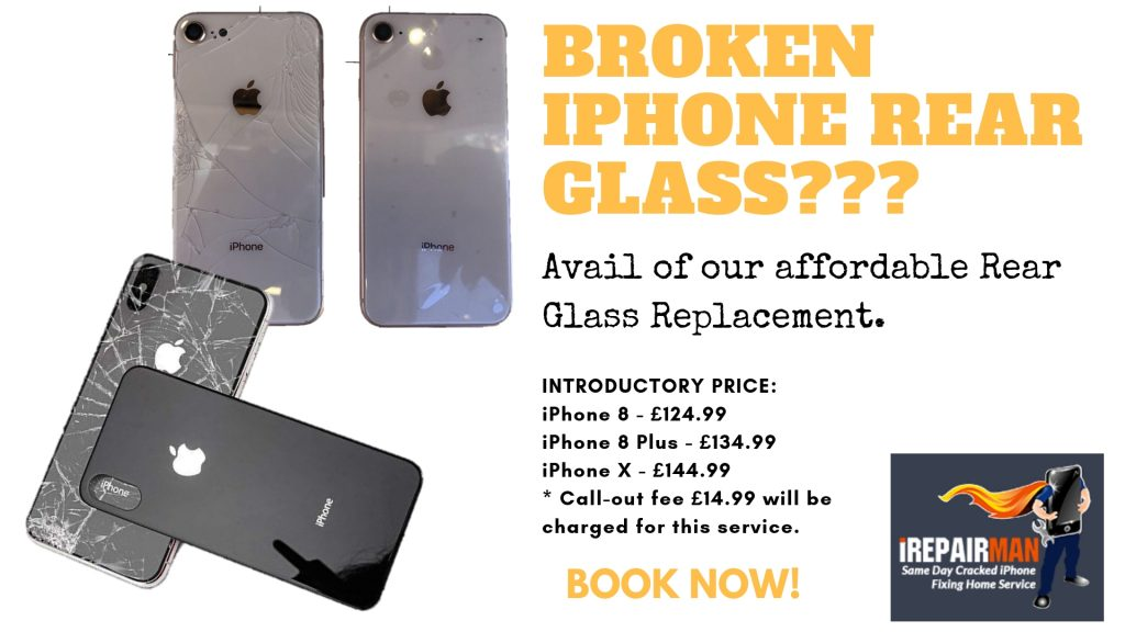 the latest 20f4f 2e7fd Back Rear Glass replacement iPhone - iRepairMan London