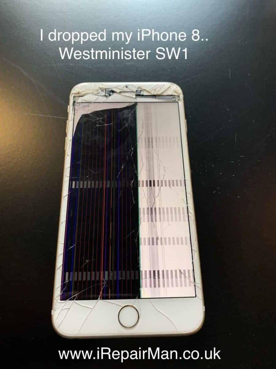 I dropped my phone it cracked LCD broken - iRepairMan London