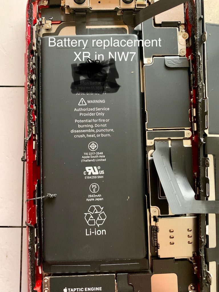 iPhone Battery service XR