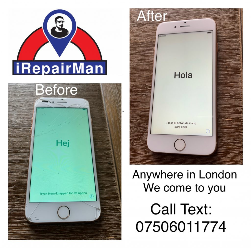 Gold_stunning_iPhone8Plus_screen_replacement